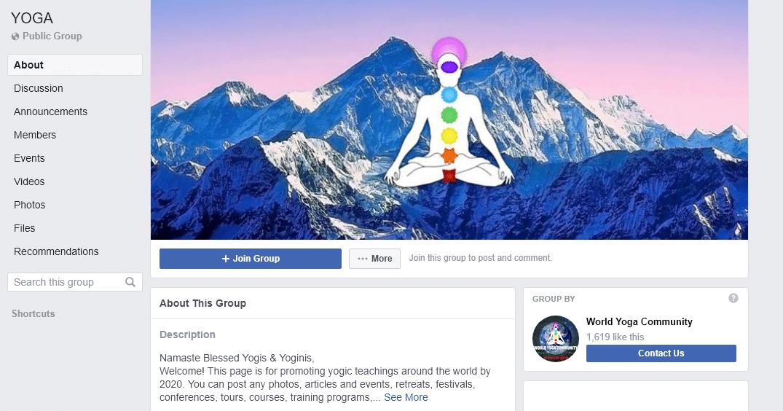 yoga facebook group
