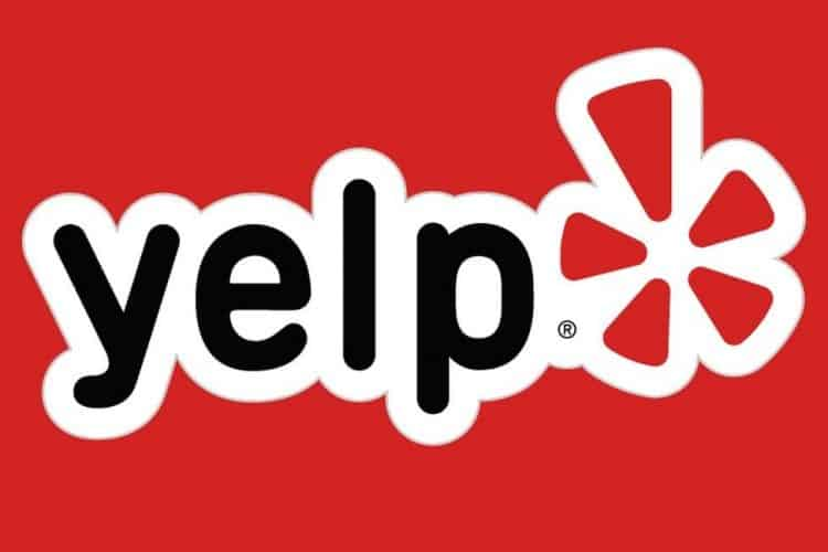 yelp logo red background